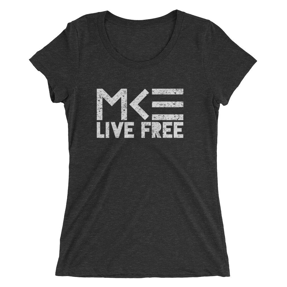 Milwaukee t-shirt in black, Live Free Collection by MKE Outfitters