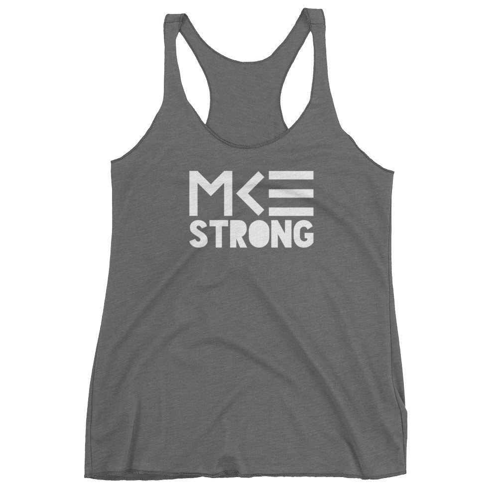 MKE Strong gray racerback tank top from MKE Outfitters