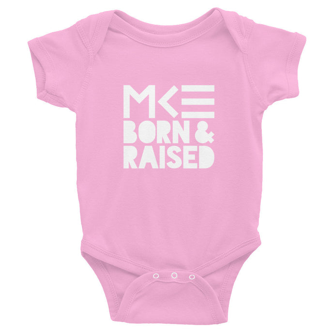 Milwaukee Born & Raised Pink Onesie by MKE Outfitters