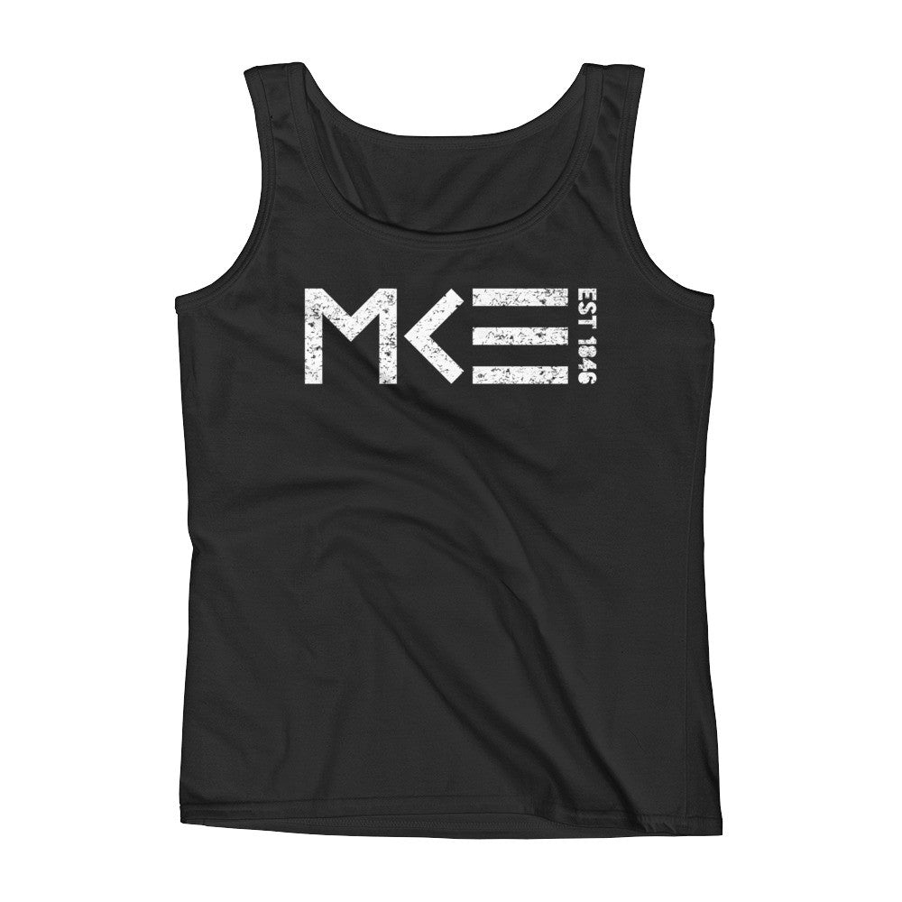Milwaukee Established 1846 Classic Black Ladies Tank Top by MKE Outfitters