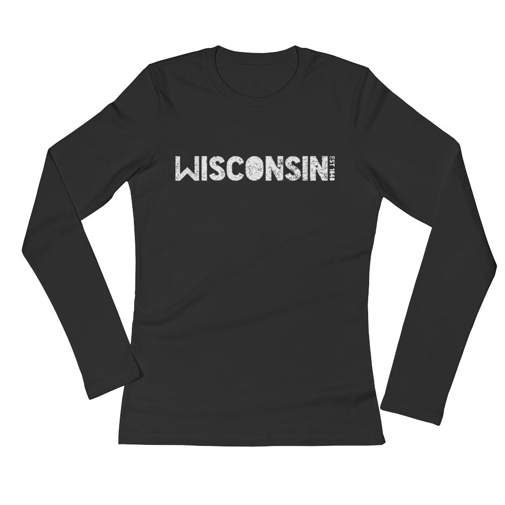 WISCONSIN EST 1848 Ladies' Long Sleeve T-Shirt