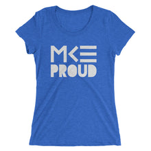 MKE Proud ladies tee in blue by MKE Outfitters