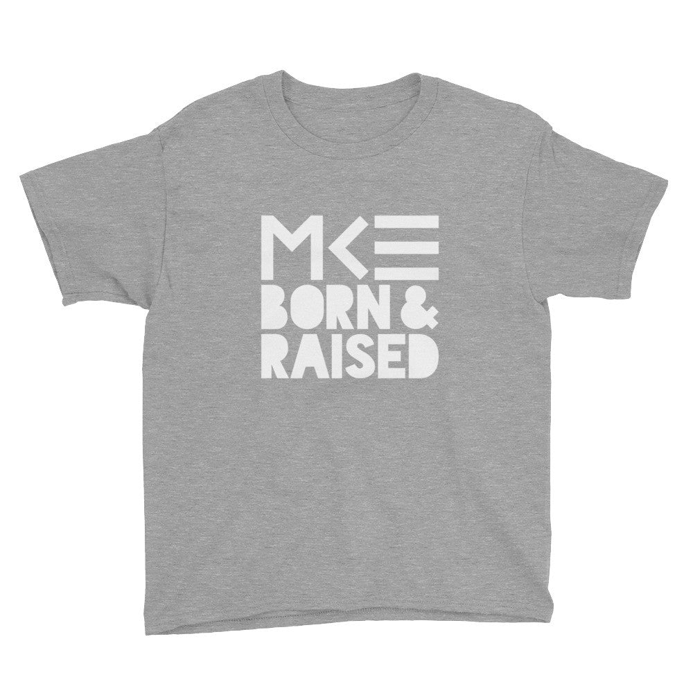 Milwaukee Born & Raised Children's Shirt in Gray by MKE Outfitters