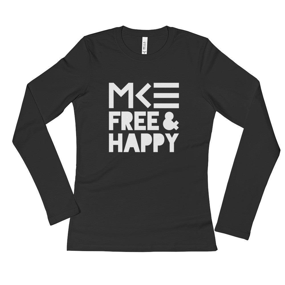 Milwaukee Ladies Long Sleeve Black Shirt from Free & Happy Collection