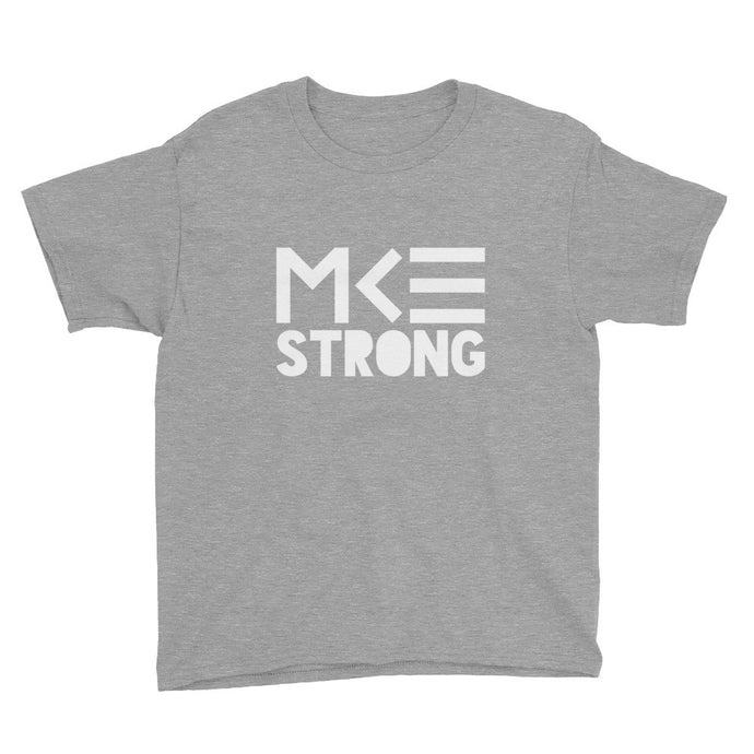 MKE Strong gray tee for kids from MKE Outfitters