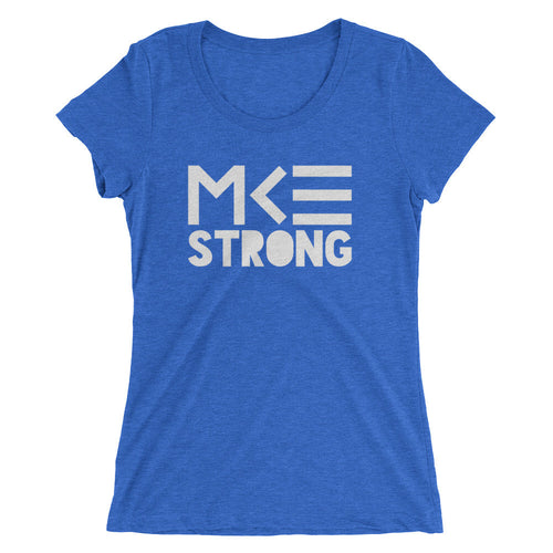 Blue MKE Strong women's tee from MKE Outfitters