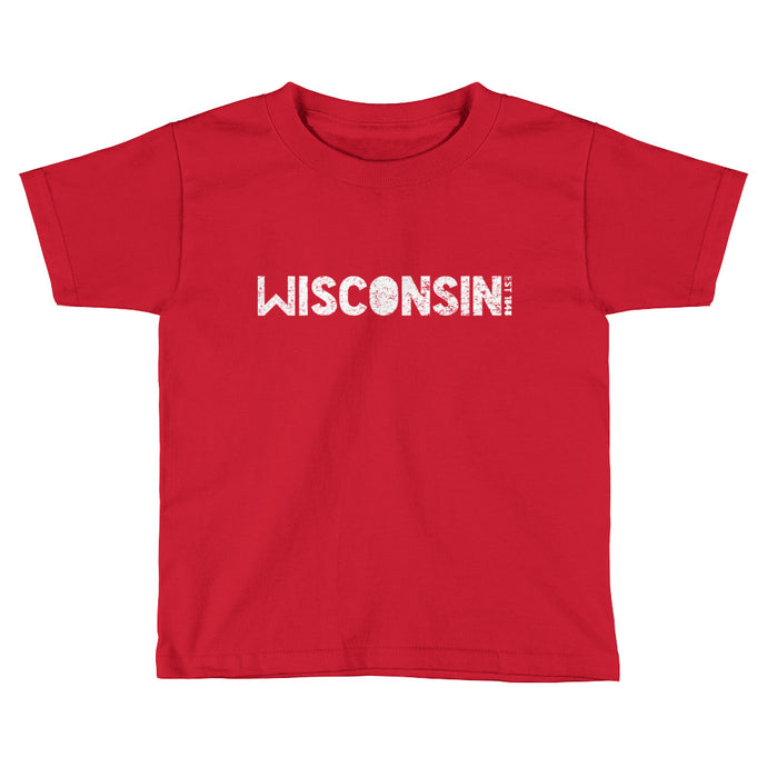 WISCONSIN EST 1848 Toddler Short Sleeve T-Shirt