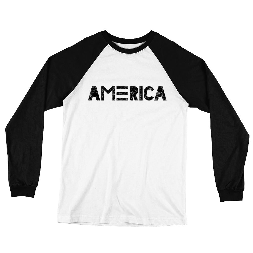 AMERICA Long Sleeve Baseball T-Shirt