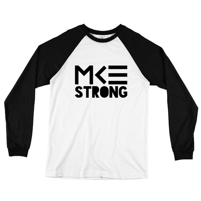 Milwaukee Strong long sleeve black & white baseball shirt