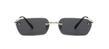 Square rimless shades
