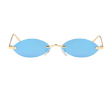Small Oval Mirror Sunglasses