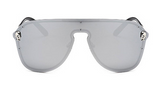 Skull Crystal Oversize Integrated Shades