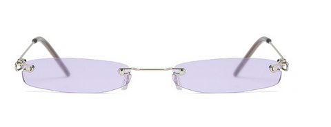 Small Rectangle Rimless Sunglasses