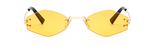 Vintage Small Rimless Sunglasses