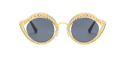 Rhine stone cat eye sunglasses