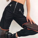 Mesh Patchwork Sweat Pants
