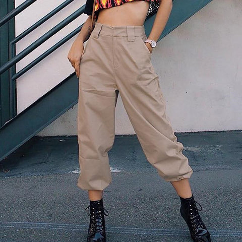 Casual High Waist Harem Pants