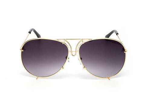 OVERSIZED  AVIATORS - Gold Gray