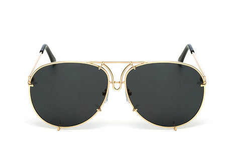 OVERSIZED  AVIATORS - Gold Black