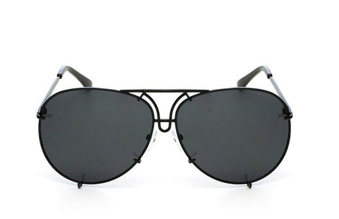 OVERSIZED  AVIATORS - Black