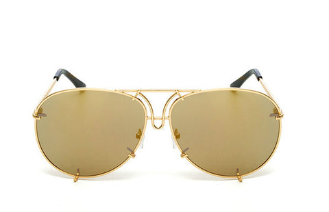 OVERSIZED  AVIATORS - Gold Gold