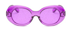 Glitter oval sunglasses