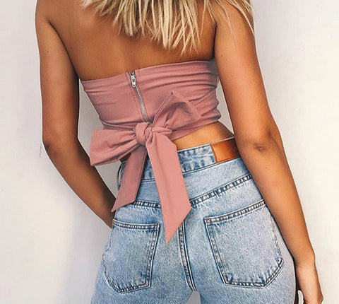 Off Shoulder Strapless Tank Tops