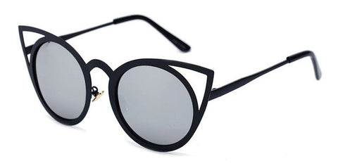 Morden Cat Eye Silhouette Ultra Weight Metal Frame Sunglasses