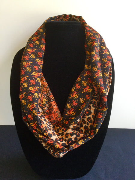 Orange & Black Paisley Infinity