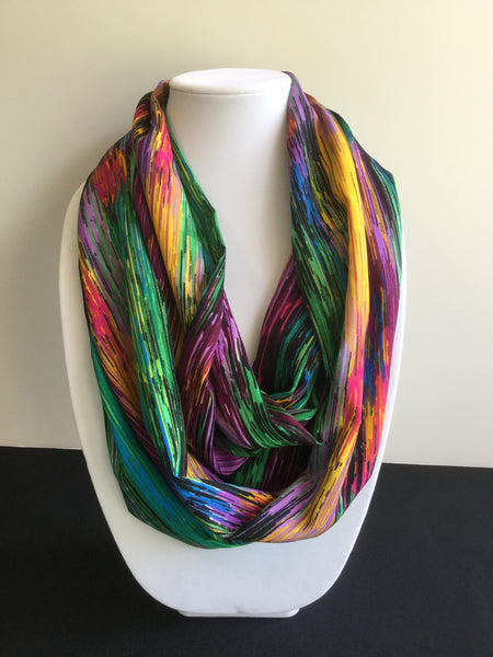 Green Rainbow Spectrum Infinity Scarf