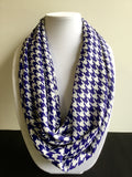 Blue & White Houndstooth Infinity