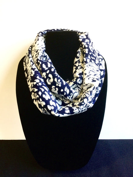 Splattered Blue & White Infinity