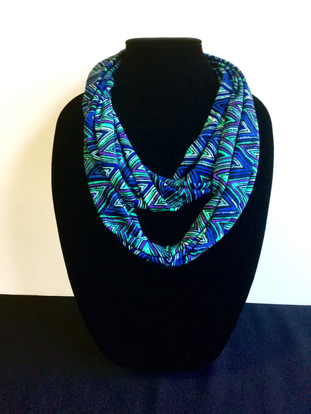 Green, Blue & Purple Zig Zag Infinity