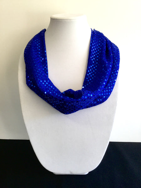 Blue Sequins Infinity