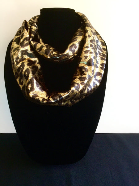 Gold Leopard Print Infinity