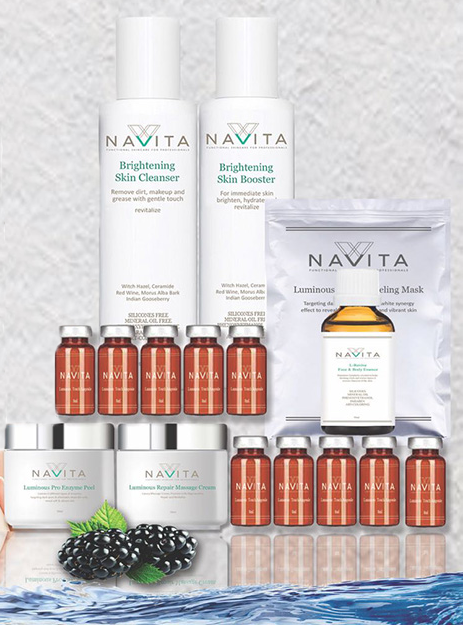 Range of NAVITA skincare products