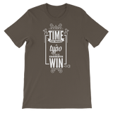 """Every Time You Make A Typo The Errorists Win"" Short-Sleeve Typography Tee - Ravik Apparel"