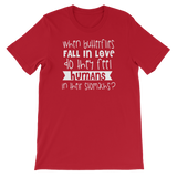 """When Butterflies Fall In Love Do They Feel Humans In Their Stomachs?"" Short-Sleeve Typography Tee - Ravik Apparel"