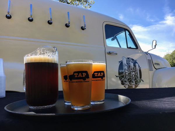 Our vintage mobile bar is serving cold beer on tap. Choose as many beer options as you want.