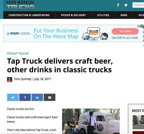 Looking to serve wine or beer at your event? Want a crisp clean-cut truck to serve it from? Then let us handle your bar needs so you can enjoy the party. This vintage beer truck can provide custom cocktails as well as cold brew coffee. Kombucha has also been a fan favorite for weddings as well as corporate events.