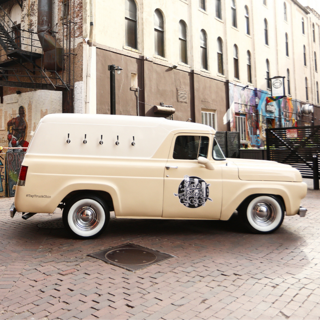 """Servicing Central Ohio,  """"Lucy."""" this vintage 1960 Ford Panel truck is truly redefining your event experience."""