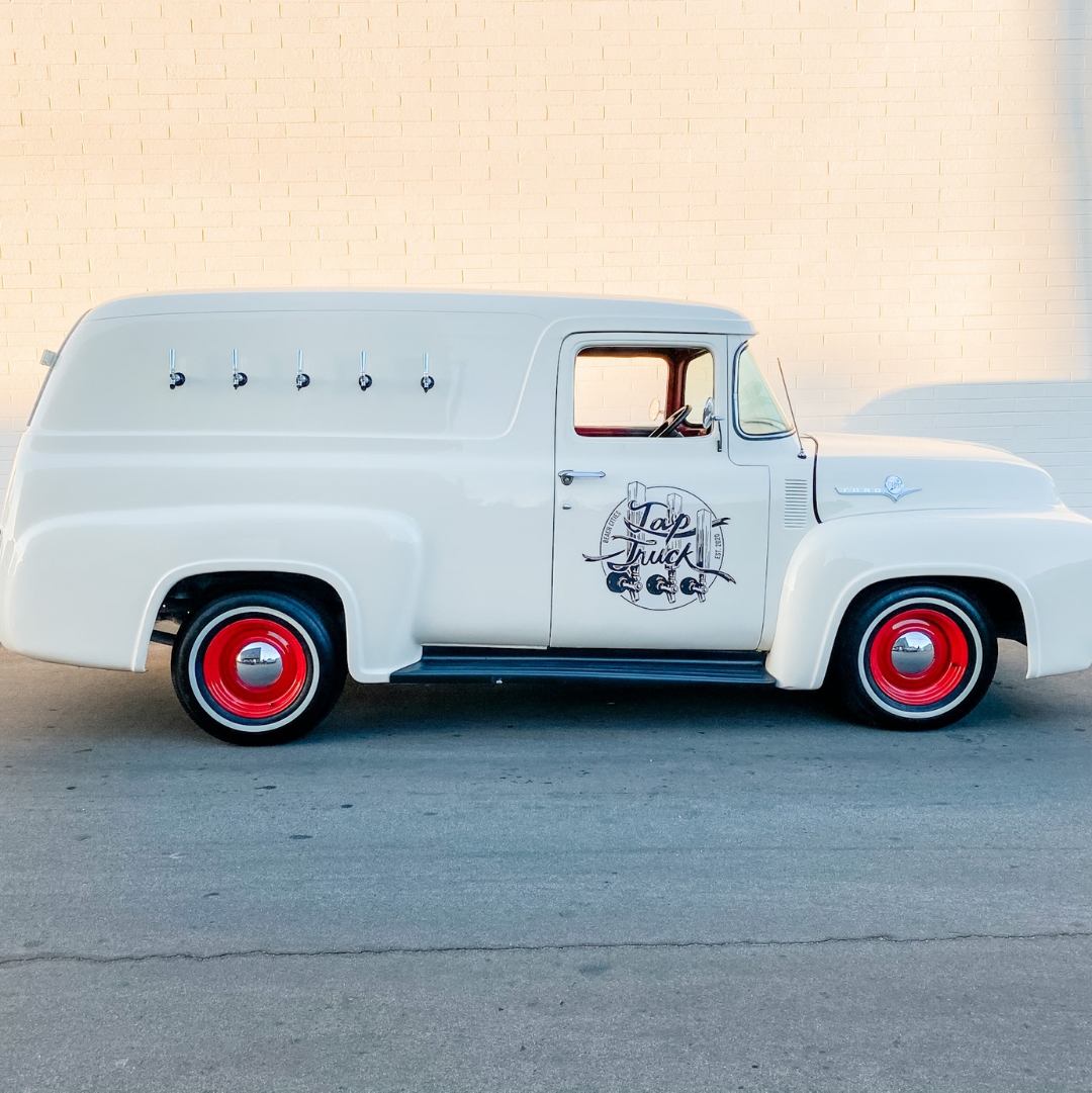 Tap Truck Beach Cities is a 1956 Ford mobile bar.