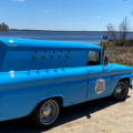"""Operating throughout northwest Michigan. We serve from """"Blue Betty"""" a 1962 Chevy C10 panel truck and can service any event, large or small. If you can tap it, we can pour it!"""