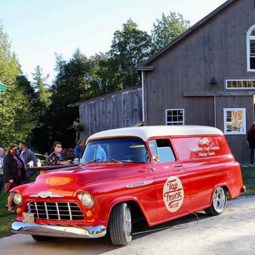 Clyde the Lobster Red 1957 Chevy mobile bar, services all of Maine. Contact today for your party.