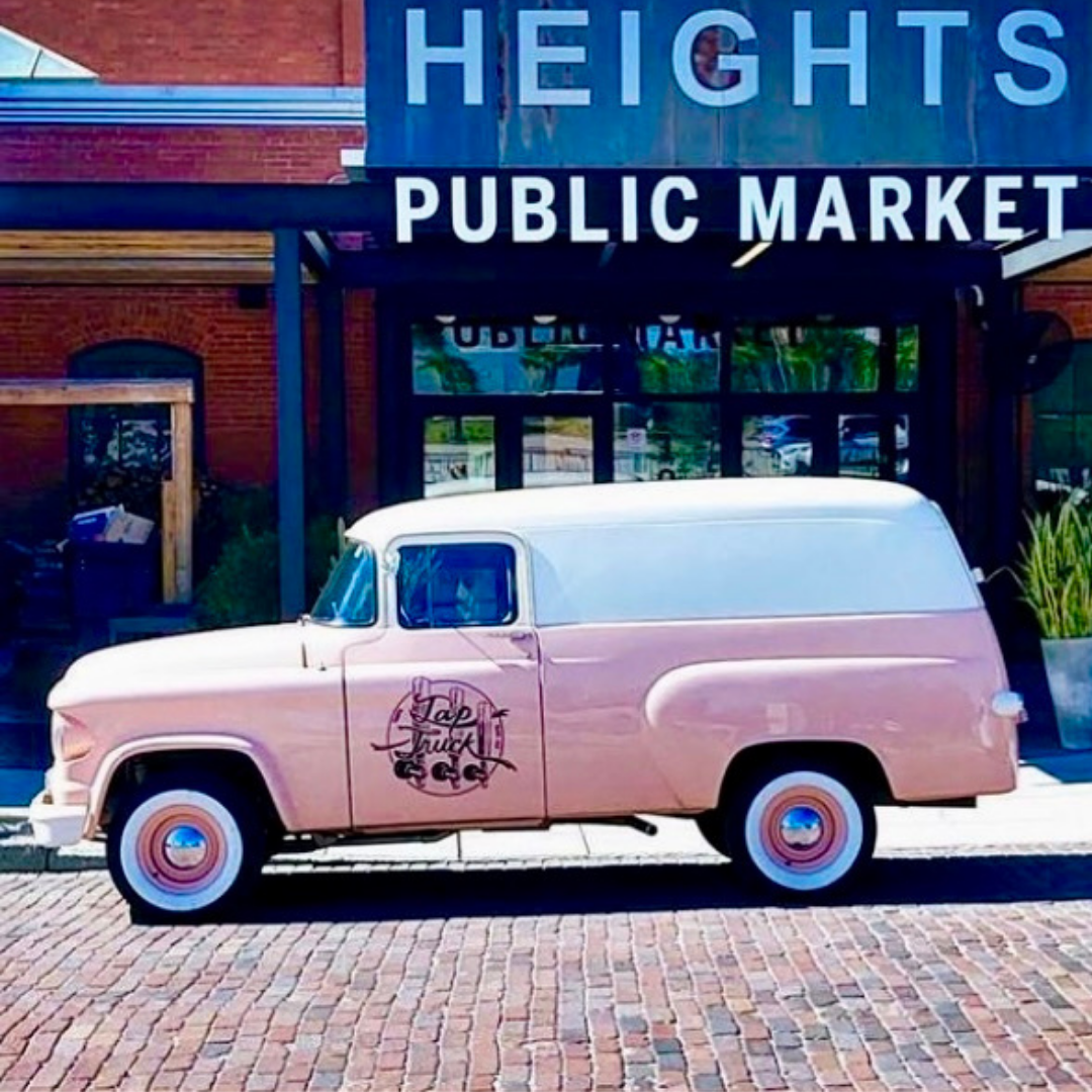 Tap Truck Tampa's pink panel truck