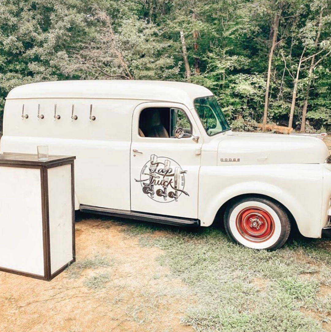 This Pearly 1948 vintage Dodge mobile bar will definitely spice up your next event. Tap in for fun ASAP.