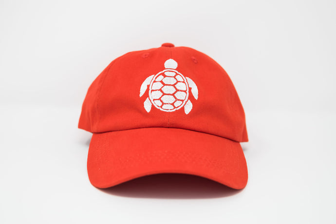 Sea Turtle Tangerine Dad Hat