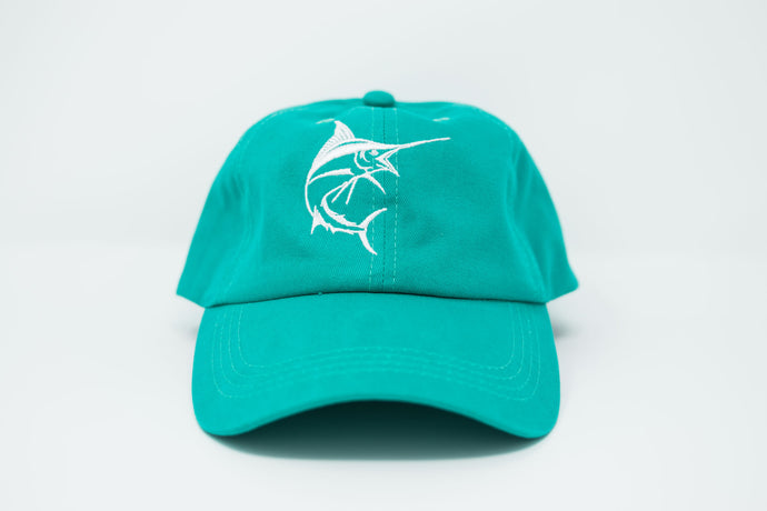 Marlin Teal Dad Hat