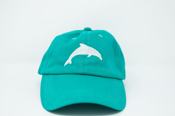 Dolphin Teal Dad Hat