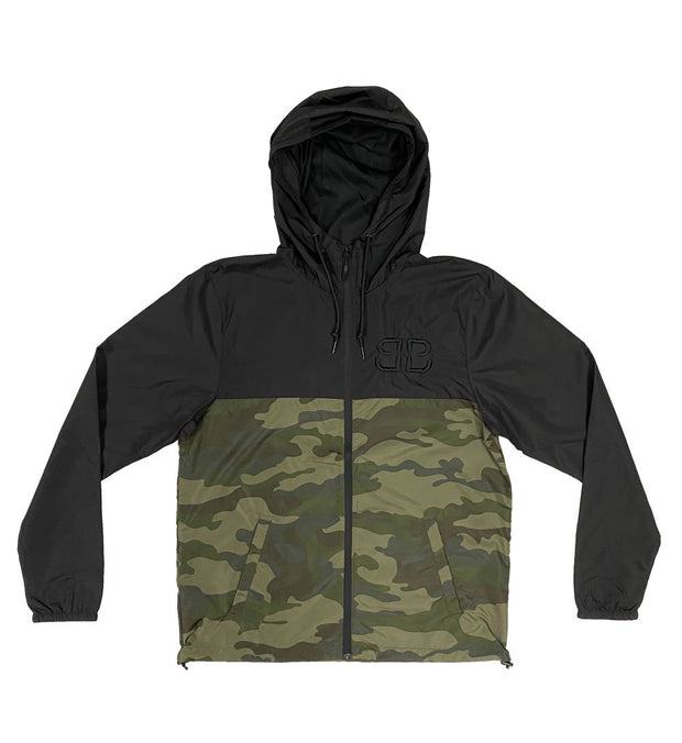 Forest Camo Zip-Up Windbreaker Jacket